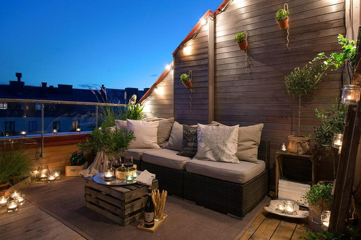 balkon w drewnie
