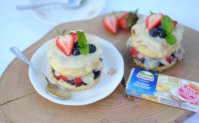 Mini torciki z owocami