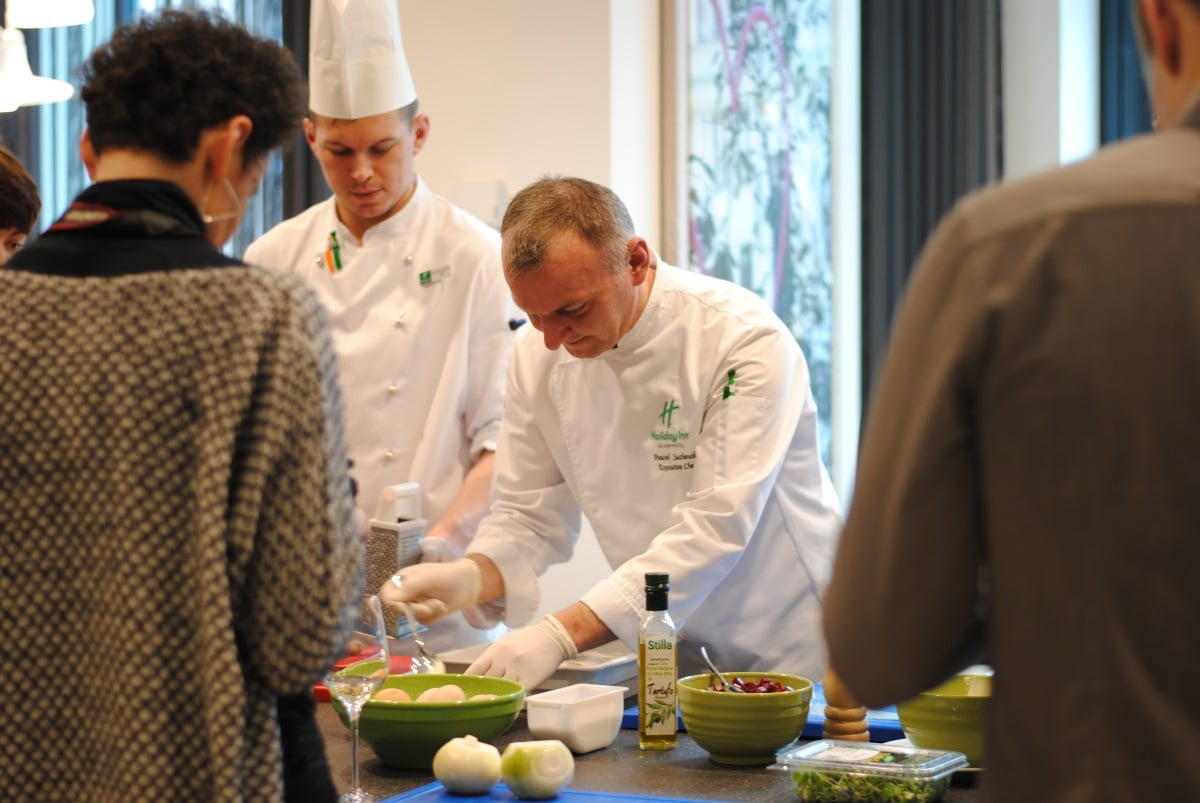Live cooking w Holiday Inn Warsaw