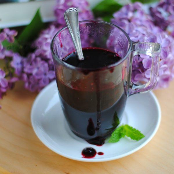 Domowy kisiel jagodowy