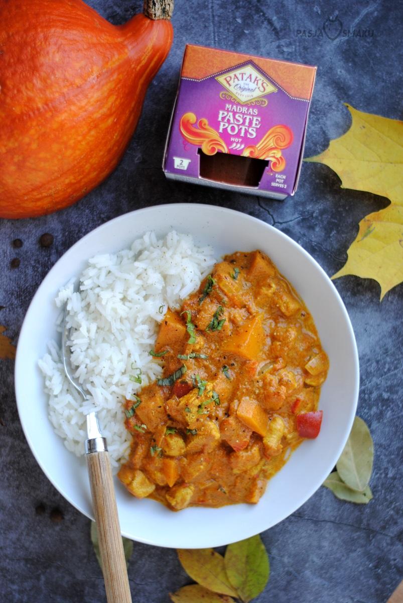 Indyjski sos z kurczakiem i dynią